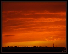 The Sky is On Fire Again! (Kuzeytac) Tags: travel sunset red sky urban orange sun color colour nature silhouette turkey geotagged evening view postcard trkiye turkiye scene istanbul geotag siluet leyla bulut gkyz lsi minare krmz portakal doa tabiat ehir hpphotosmartm425 kuzeytac copyrightedallrightsreserved aqualityonlyclub