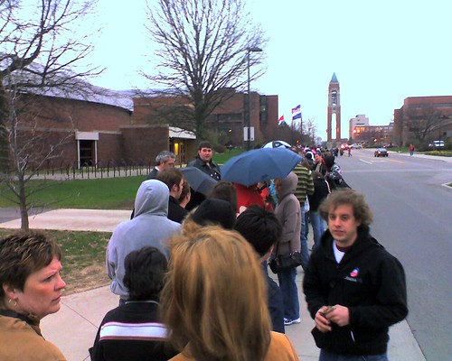 Obama at Ball State: Waiting in Line