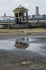 Princes dock (Ruth_W) Tags: old reflection liverpool river puddle pier dock decay lancashire mersey merseyside capitalofculture