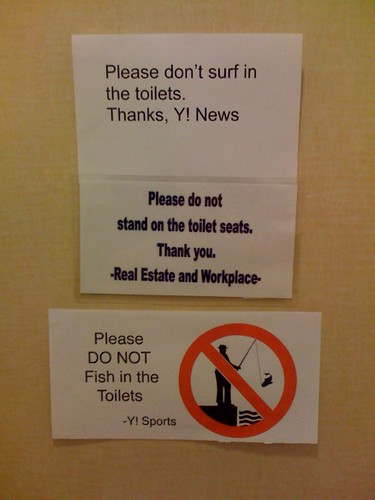 is yahoo! in the toilet? just read the writing on the wall.
