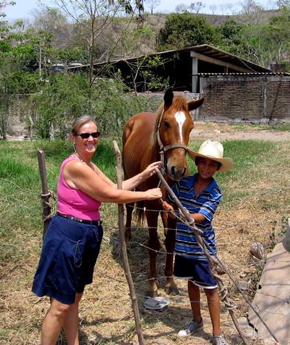 Sylvia, horse and cowboy