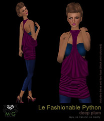 [MG fashion] Le Fashionable Python (deep plum)
