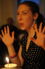 birthday girl with jazz hands... (nicolemariedev) Tags: sf olea minimixr