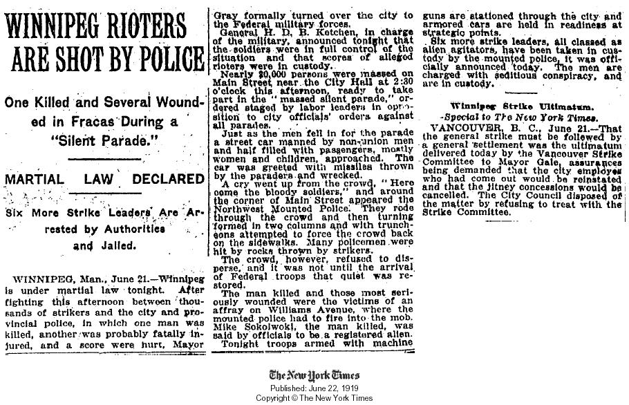 NYTimes Strike June 22