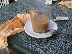 "Breakfast in Granon - Cafe con Leche & a Bocadillo • <a style=""font-size:0.8em;"" href=""http://www.flickr.com/photos/48277923@N00/2622676066/"" target=""_blank"">View on Flickr</a>"