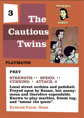 Cautious Twins Playmates back
