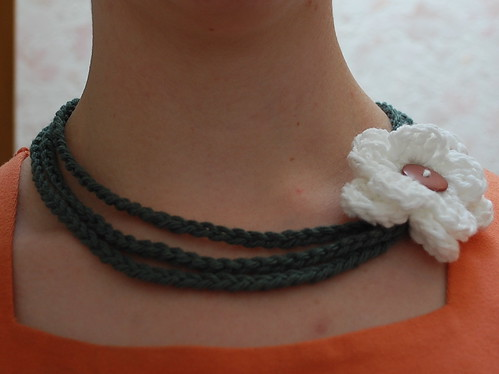 crocheted necklace - looks loopy!