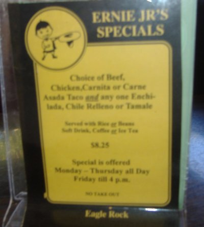 Ernie Jr.'s Taco House Specials