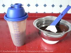 Küchengerät für Schokoladenpudding