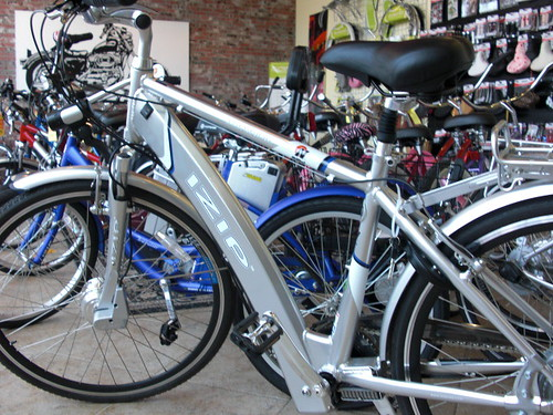 E-Zip Electric Hybrid Bicycle at Zclipse Bike Shop in Newport Beach