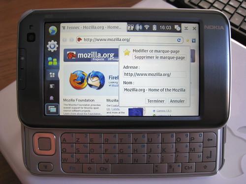 Fennec en français sur Nokia N810