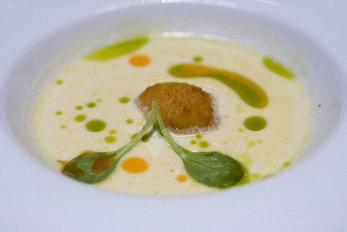 Almond Gazpacho, Close up