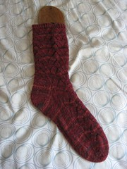 FO: Red Monkey Socks