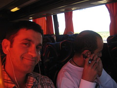 Amir and I on the bus (Emile Baizel) Tags: emile