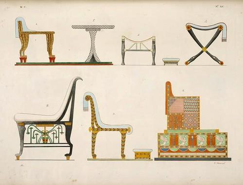 18- Varias sillas, una mesa y un trono