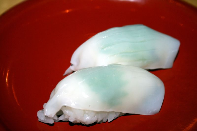 Translucent Squid with Shiso Leaves