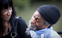 Raggzie (Jane Hoskyn) Tags: portrait people smile hat beard couple 85mm bodylanguage hollowponds leytonflats raggszie