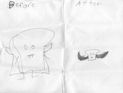Vampire Toast Transformation