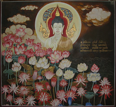 Lotus flowers in the Suan Mokh Spiritual Theatre