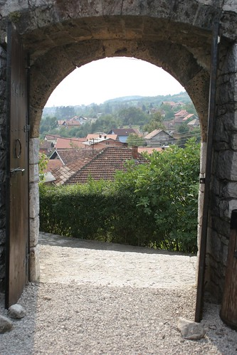 Doboj from the lower gateway of the fortress