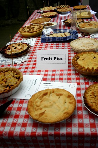 Fruit pies were the largest category of entries