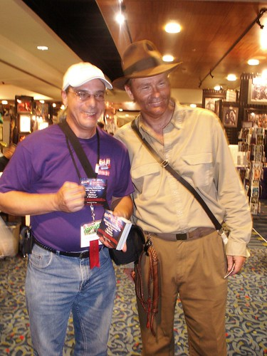 Tom Savino with Indiana Jones