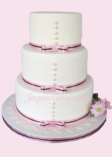 2830925988 9ed167f70f d Baú de idéias: Bolo de casamento rosa e marrom I