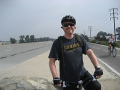 Tim on our 14-mile bike ride. (09/07/2008)