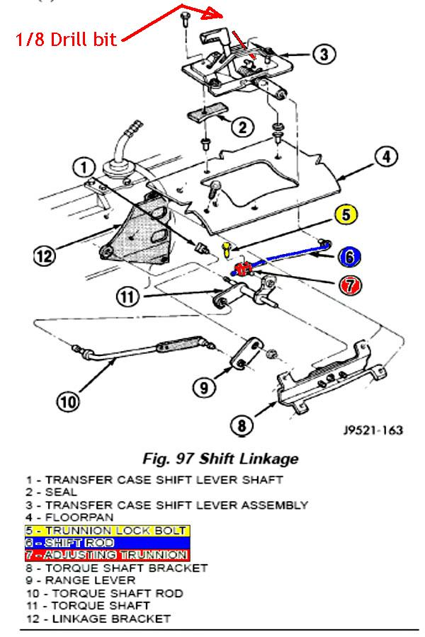 stock Tranfer case linkage    diagram     JeepForum