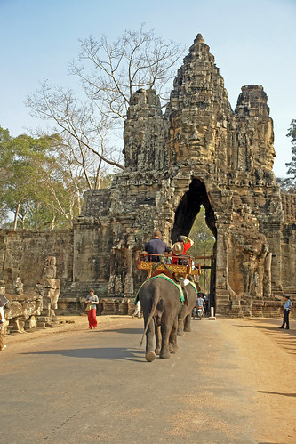 Entering Angkor Thom