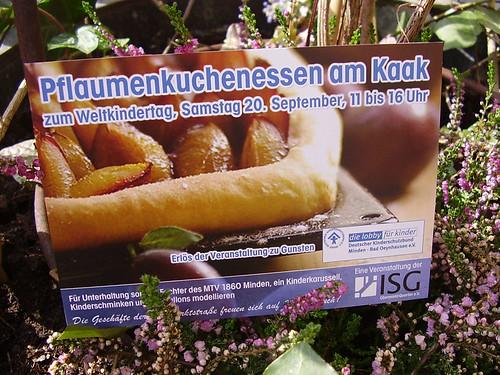 pflaumenkuchen - plum cake in minden, obermarktstraße