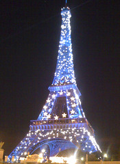 Eiffel in blue