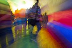 Blur-oon Walk (Daniel Light) Tags: louisville usp balloonglow bowmanfield rainbowhoodie universalstoppingpoint flickrsraimbowpics
