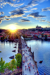 Prague (Edgar Barany) Tags: bridge sunset castle river nikon europe czech prague praha praga tourist tourists czechrepublic d200 charlesbridge easteurope vltava hrad praag ceskarepublika praguecastle malastrana republicacheca mesto nikond200 barany ceskarepublica flickrsbest mywinners prazkyhrad platinumphoto theunforgettablepictures praguebridge edgarbarany