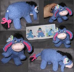 Eeyore Collage (theknittycat) Tags: cute animal knitting handmade character knit handknit donkey gift pooh winniethepooh knitted peeps amigurumi eeyore inmyhand knittycat theknittycat