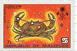 Maldive-Islands Cancer Stamp