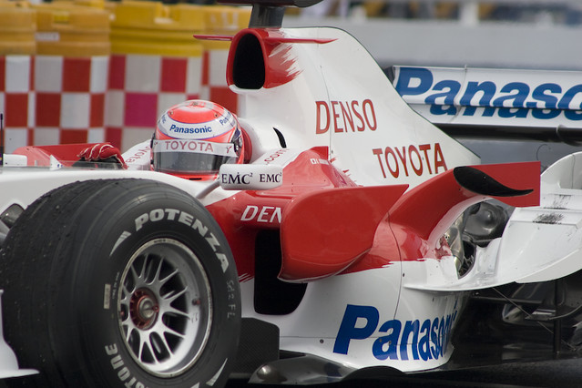 Panasonic Toyota Racing demo run - Kamui Kobayashi