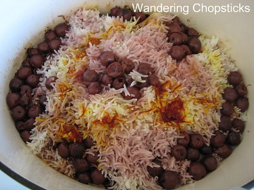 Albalu Polow (Persian Sour Cherry Rice) 1