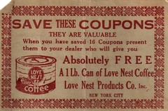 Cool Coffee Coupon! (HA! Designs - Artbyheather) Tags: red love coffee coupon nestvintageephemeraoldfunky