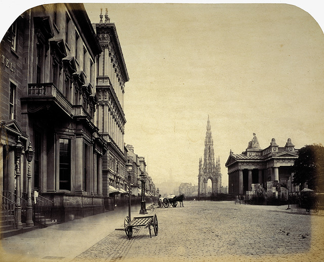 Princes Street the Scott Monument and the Royal Institution by National Galleries of Scotland Commons