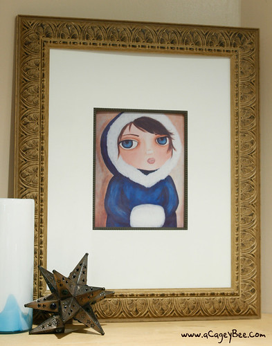 Winter Baby print in a frame