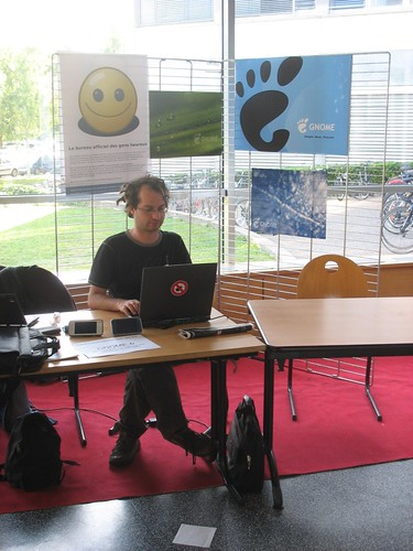 Fredp, looking zen, at JDLL 08 in Lyon