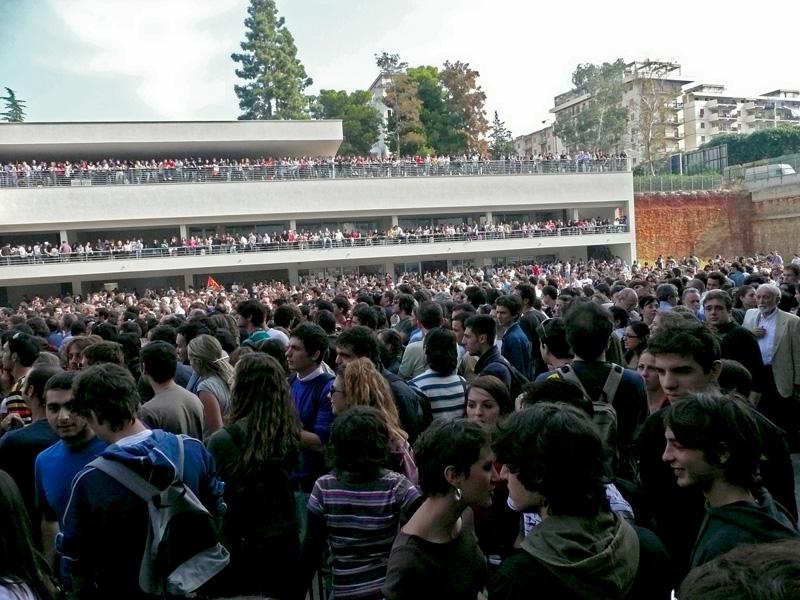 Mobilitazione oceanica all'università di Palermo