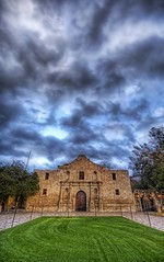 The Skies over the Alamo (Stuck in Customs) Tags: panorama sun art love grass lines sanantonio clouds composition work photography lights nikon bravo san shoot artist mood skies texas photographer shot angle image live details d2x perspective picture romance symmetry textures edge processing attractive pro historical curious unusual portfolio charming capture antonio monuments alamo incredible magical epic hdr talented spontaneous treatment glamorous highquality stuckincustoms treyratcliff