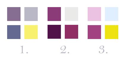 3 palettes