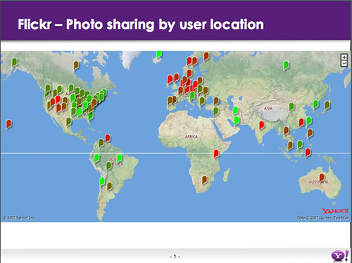 World Map of Flickr Privacy Settings