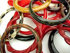 BAKELITE and GALALITH BANGLES - pitiful pile