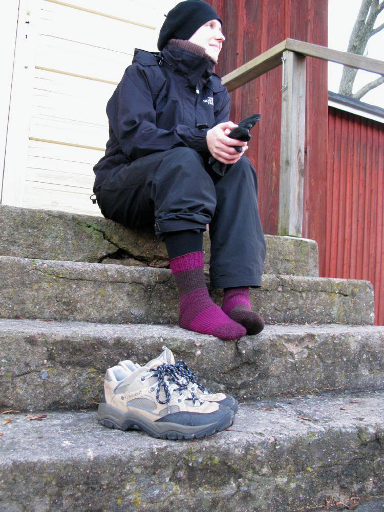 Bockstark socks in action
