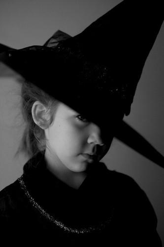 Halloween Witch (bw)