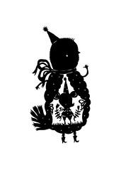 Roberto (Elsita (Elsa Mora)) Tags: friends white black cute bird art birds animal paper design miniature blog cut childrens blogged elsa papercut elsita papercutting sotories